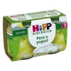 HIPP BIOLOGICO PERA E  YOGURT  2X125 GR.